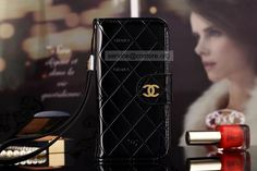 Fashion Copy Chanel iPhone 6 / 6 Plus Leather Wallet Cases All About Fashion Black China Free Shipping