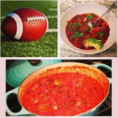 Healthy Game Day Chili Recipe by Elizabeth Rider. www.elizabethrider.com #recipe #fall #eatclean