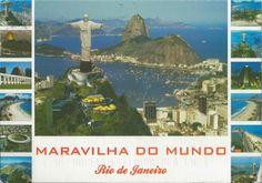 Postcard from Jacksonville, FL, USA from a postcrosser from Brazil! ~ MARAVILHA DO MUNDO, Rio de Janeiro ~ Conjunto das mais belas paisagens do Rio de Janeiro  ~ Collection of the most beautiful landscapes of Rio de Janeiro