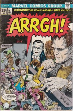 Arrgh 1974 2  February 1975 Issue  Marvel Comics  by ViewObscura, $1.00