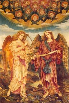 Evelyn De Morgan ~ Gloria in Excelsis ~ 1893