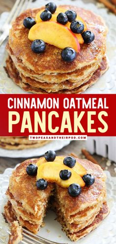 Cinnamon Oatmeal Pancakes are light and hearty homemade pancakes that make the best Mother's day brunch idea! This healthy breakfast recipe can be made in advance! It's an explosion of texture and sweetness in one easy healthy breakfast idea! Pin this. Popular Mexican Food, Mexican Food Recipes, Dessert Recipes, Easy Waffle Recipe, Waffle Recipes, Oatmeal Pancakes, Pancakes And Waffles, Fun Easy Recipes, Yummy Recipes