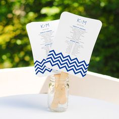 @Overstock - Keep your guests cool during your Mr. and Mrs. ceremonial debut with DIY fan program kits.  Equipped with a complimentary CD of custom designs and as one of the wedding industry's leading trends, these program fans work amazingly.http://www.overstock.com/Gifts-Flowers/DIY-Scroll-Fan-Program-Kit/7455950/product.html?CID=214117 $35.99