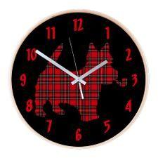 Scottish Terrier Tartan Wall Clock