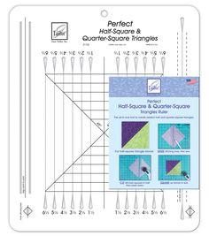 June Tailor Perfect Half-Square & Quarter-Square Triangles Ruler