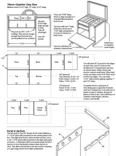 Plans for a wooden fishing tackle box...would be a great start to a painters box