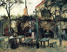 Terrace of a Cafe on Montmartre (La Guinguette) in Montmartre Vincent Van Gogh... | 1st Art Gallery