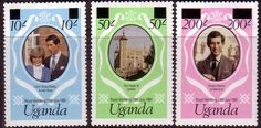1981 Uganda Charles and Diana Royal Wedding Set Fine Mint SG 341B 3B Scott 314a 6a Other Tanzania and British Commonwealth Stamps HERE!