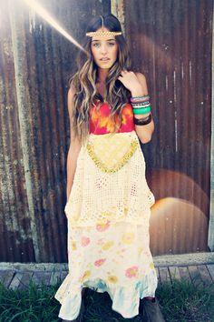 Custom Made for you. Poor Pitiful Pearl Tube Dress OOAK Ruffle Maxi Long Boho Hippie on Etsy, $65.00