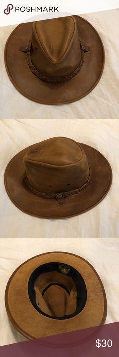 Safari leather henschel hat (free people) 54f9bd539708