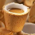 cookie cup that you can eat. Don't try this at home folks!
