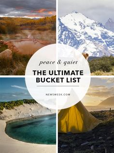 The ultimate bucket list: Peace and quiet Us Travel Destinations, Romantic Getaways, Beautiful Places, Peaceful Places, End Of The World, Pacific Coast, Hot Springs, Where To Go, Mother Nature