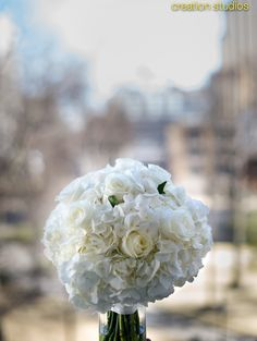 All white bridal bouquet. Wedding by Southern Event Planners. Photography by Creation Studios. Bouquet Wedding, Bridal Bouquets, White Bridal, All White, Studios, Southern, Event Planners, Bridesmaid, Fancy