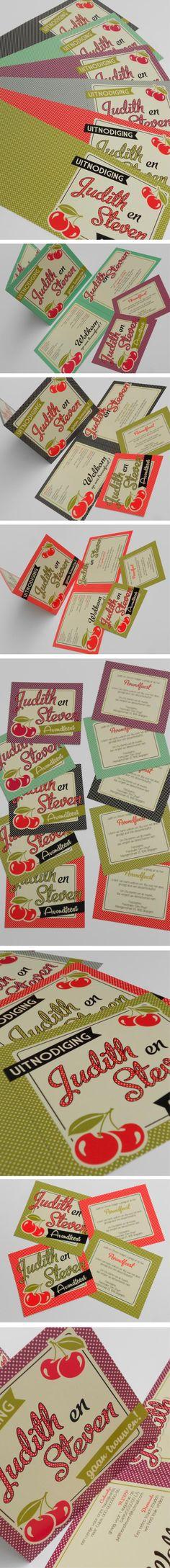 cherry wedding card