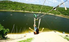 Tirolesa Top!! Lagoa Jacumã - Rio Grande do Norte (via Guia Viajar Melhor)