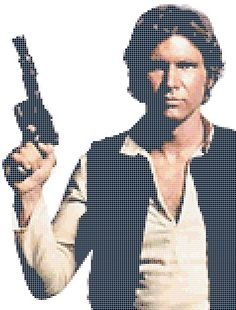 Han Solo cross stitch pattern. It's taking me forever and a day, but I can't wait to frame it.