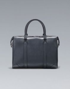 BRIEFCASE WITH PLAITED HANDLE - Bags - Man - ZARA United States