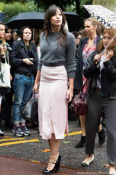 Daisy Lowe after Topshop Unique SS14 Regent's Park,... - The New York City Streets by Melodie Jeng