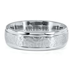 Artiste™ by Scott Kay Brute TI™ Men's Hammered-Finish Band, 7MM