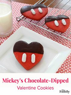 It's true Mickey can be forgetful, but on Valentine's Day you won't find this smitten Mouse caught short. Dipped in chocolate, this delicious cookie recipe is  designed to show his leading lady that he's all heart.
