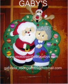 INTERCAMBIO DE MOLDES ORIGINALES NAVIDAD 2012 Christmas Wreaths, Merry Christmas, Christmas Ornaments, Natal Diy, Christmas Pictures, Xmas Cards, Elf On The Shelf, Santa, Holiday Decor