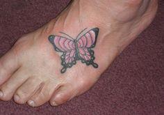 25 Wonderful Butterfly Tattoos On Foot | CreativeFan