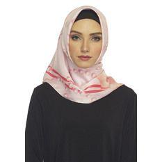 Hijabstore - Angel Lelga Original Scarf 244 Motif - Soft Peach