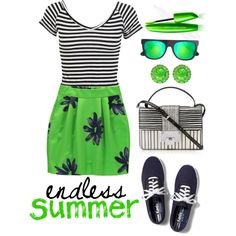 endless summer by robojono22 on Polyvore featuring Miss Selfridge, Jimmy Choo, Balenciaga, J.Crew, Keds, summerstyle and summerfashion