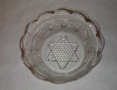 """BUTTON ARCHES 8 1/4"""" bowl Duncan & Miller eapg pattern glass"""