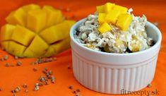 Pohánkový, kuskusový alebo quinoový šalát s mangom - FitRecepty Polenta, Raw Vegan, Raw Food Recipes, Quinoa, Mango, Healthy, Fitness, Bulgur, Manga