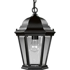 Amazon.com: Progress Lighting P5582-31 Cast Hanging Lantern with Clear, Beveled Glass, Textured Black: Home Improvement