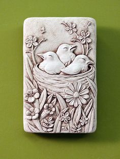 Cozy Nest -- Carruth Studio: Waterville, OH Stone Sculpture, Sculpture Clay, Sculptures, Clay Art Projects, Clay Crafts, Clay Wall Art, Plaster Art, Art Drawings For Kids, 3d Studio
