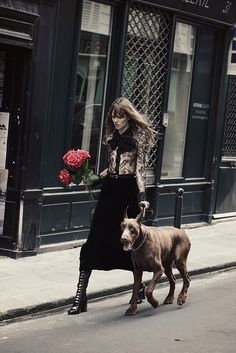 Freja Beha Erichsen by Peter Lindbergh for the November 2015 issue of W Magazine