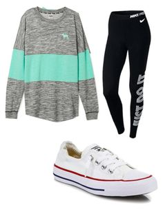 """""""Casual mall trip outfit"""" by briannaxbolivar on Polyvore featuring NIKE and Converse"""