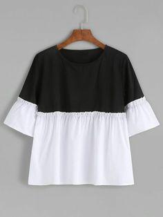 Блуза свободного покроя