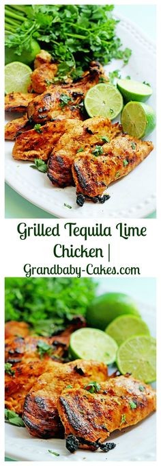 Grilled Tequila Lime Chicken Breasts | Grandbaby-Cakes.com