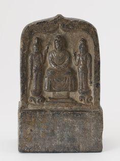 Chinese Art | Buddhist tablet on rectangular pedestal | F1909.79