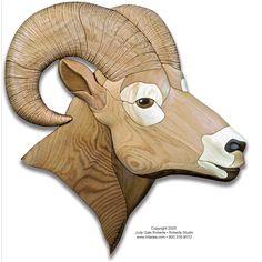 Bighorn Ram Intarsia Pattern