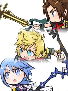 Kingdom hearts Birth by Sleep Terra/Ventus/Aqua