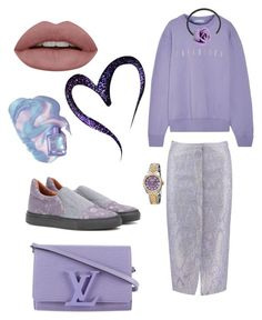 """""""Untitled #305"""" by valeria-coroianu on Polyvore featuring Sania Studio, Paradised, Dries Van Noten, Louis Vuitton, Acne Studios and Rolex"""