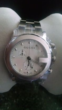 GUCCI Men's / Unisex WATCH. I am not sure what year this model is. It seems a little hard to find. I am guessing 2014?. Mother of Pearl Face. Anti Reflective Sapphire Crystal Dial window. Stainless Steel Band. | eBay!