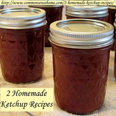 2 Homemade Ketchup Recipes - Home Canned and Lacto-Fermented I can't wait until my tomatoes are on. Both of these are on my to-can-list!