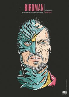 Birdman - movie poster - Matu Santamaria