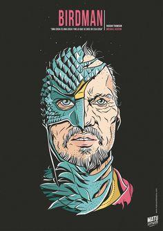 Birdman - movie poster - Matu Santamaria