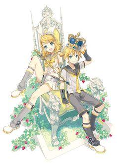 I love how cute Rin & Len are ❤ Hatsune Miku, Len Y Rin, Kagamine Rin And Len, K Project Manga, Manga Anime, Anime Art, Chibi, Kaai Yuki, Vocaloid Characters