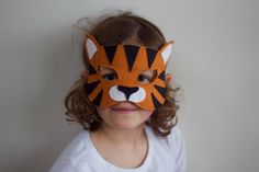 Wild Things - Tiger Felt Animal Mask PDF Sewing Pattern from Willow & Stitch
