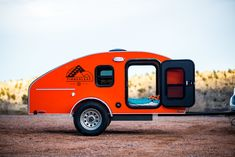 Timberleaf teardrop trailer. Classic efficient compact design. Built-in kitchen made from CNC-cut plywood.