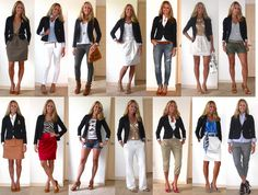 Navy Blazer love almost every outfit here