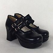 PU Leather 7.5cm High Heel Classic Lolita Sho... – USD $ 39.99