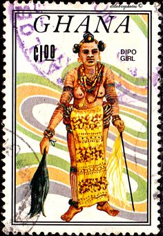 Ghana.  NATIVE DANCERS.  DIPO.  Scott 939 A182, Issued 1963 Apr 15, Photo. 1. /ldb.
